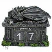 Dragon Calendar Trinket Box Secret Stash Ornament Home Decoration or Gothic Gift